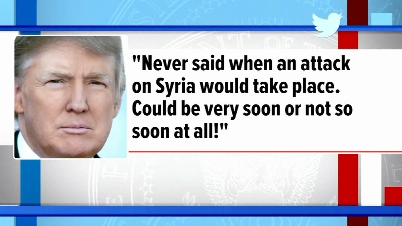 Trump says Syria attack very soon or not so soon at all!