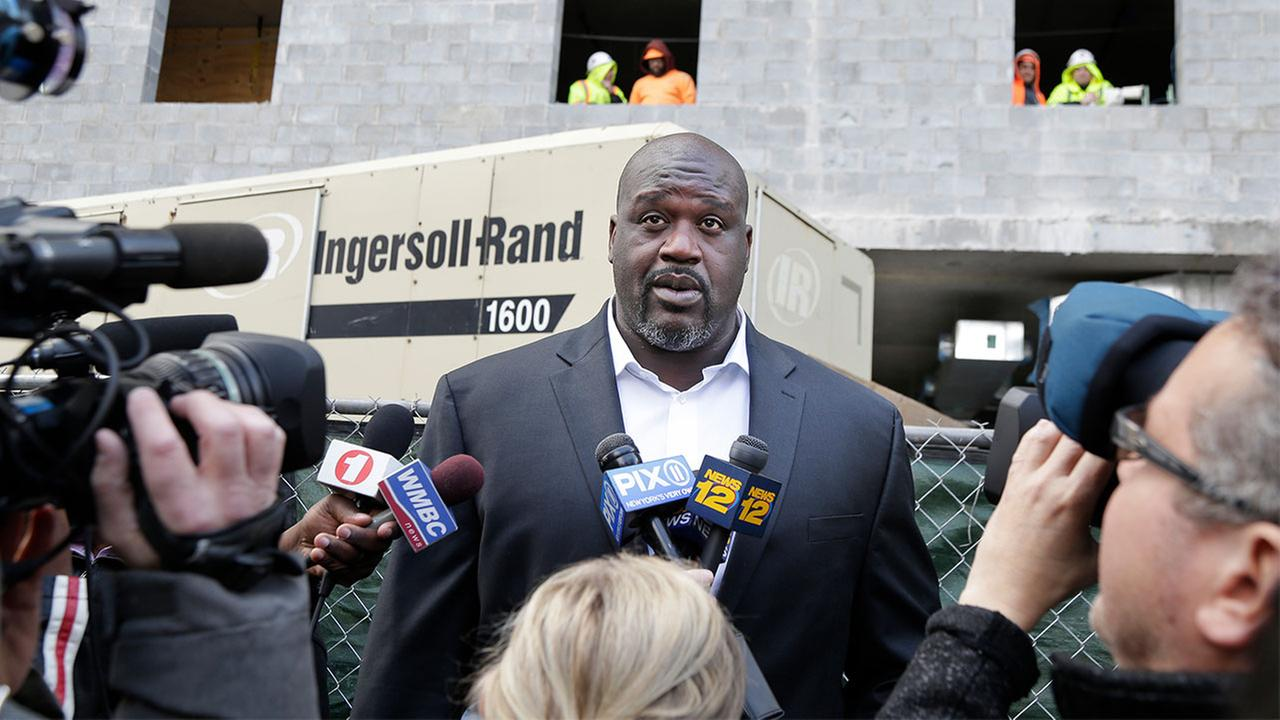 Former NBA star Shaquille ONeal is opening a high-rise apartment complex in New Jerseys largest city.