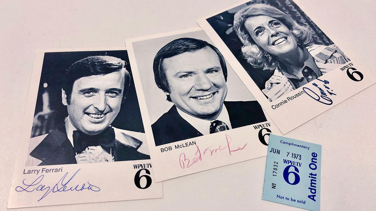 Autographed photo cards by Larry Ferrari, Bob McLean, and Connie Roussin from 1973 showed up in our mailbox, thanks to a very thoughtful 6abc viewer.
