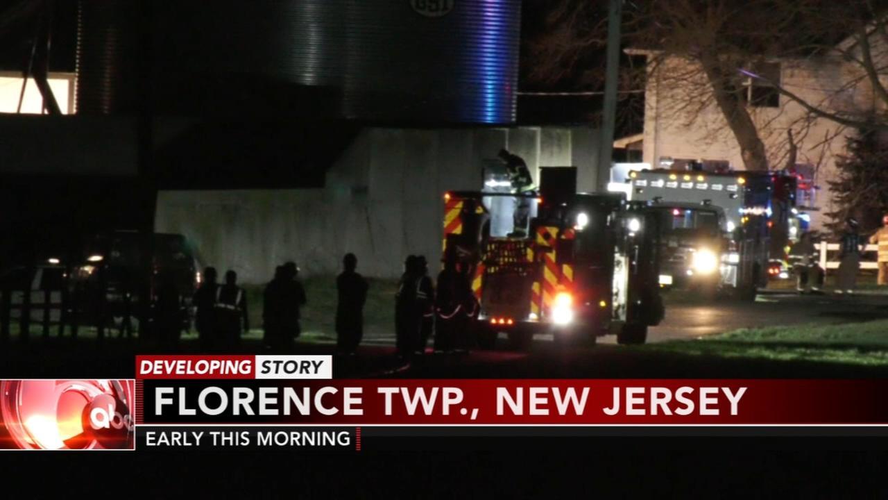 2 firefighters hurt battling blaze in Florence Twp.