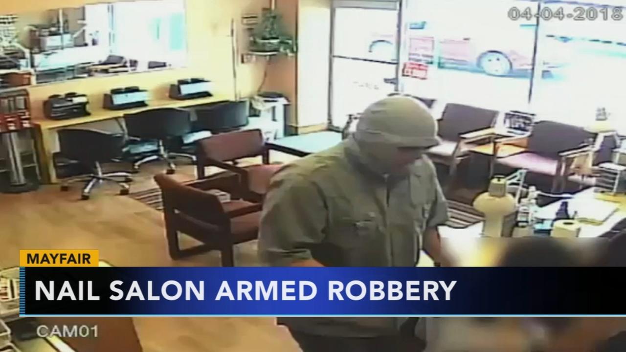 Salon robbery caught on camera
