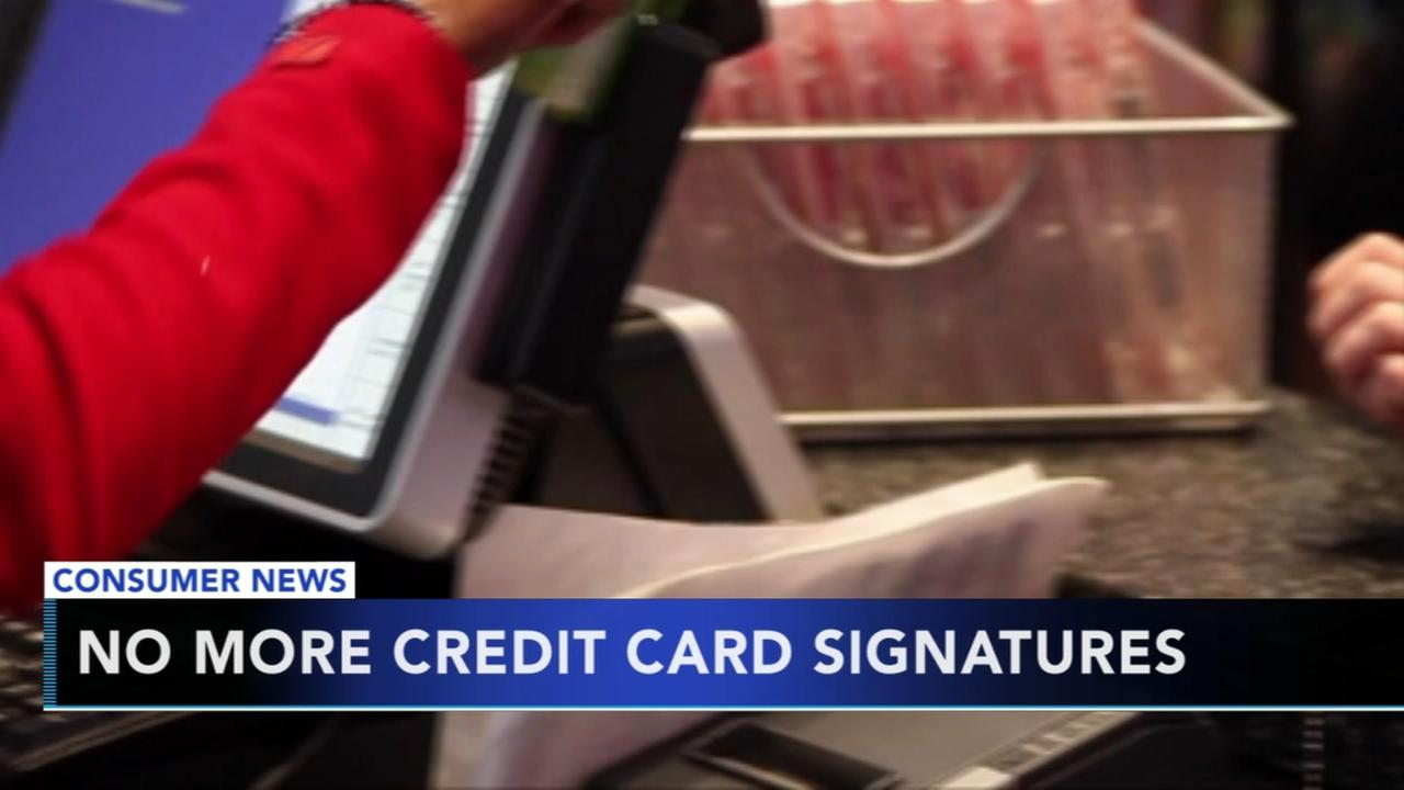 No more credit card signatures