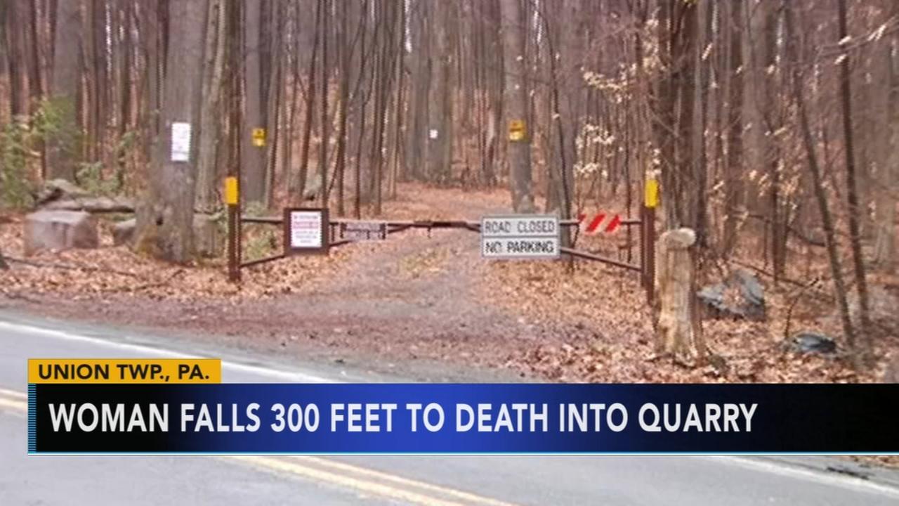 Woman falls to death at Pennsylvania quarry