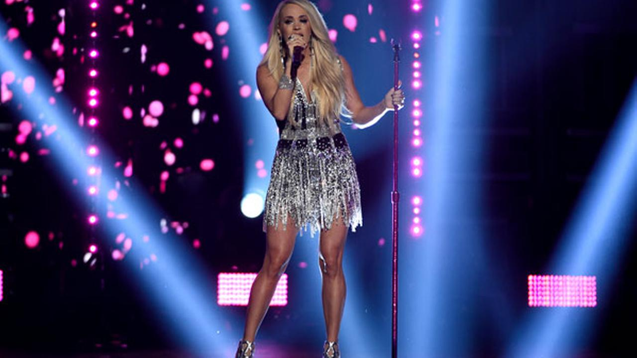 Carrie Underwood performs Cry Pretty at the 53rd annual Academy of Country Music Awards at the MGM Grand Garden Arena on Sunday, April 15, 2018, in Las Vegas.