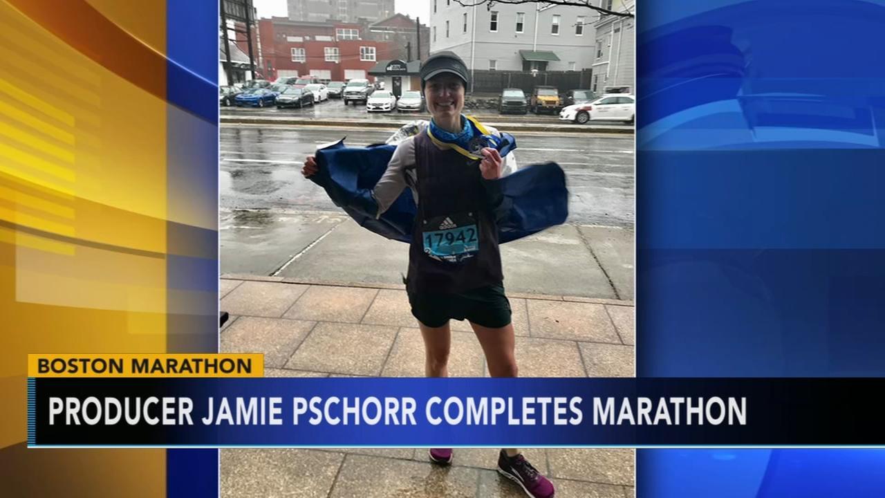 Producer Jamie Pschorr completes Boston Marathon