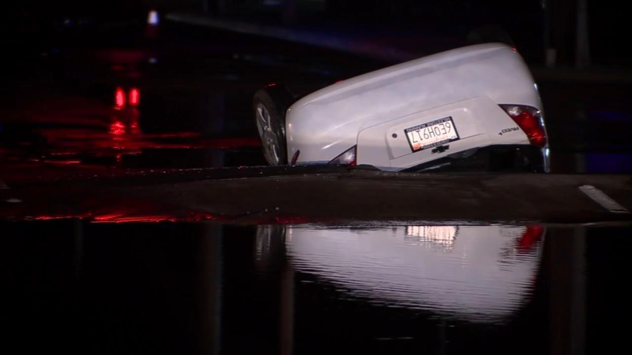 California sinkhole swallows car
