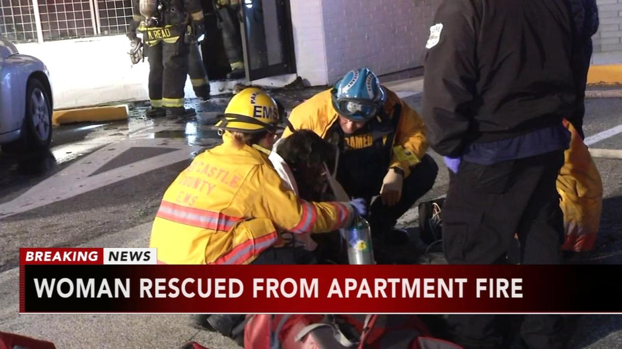 Woman rescued from apartment fire