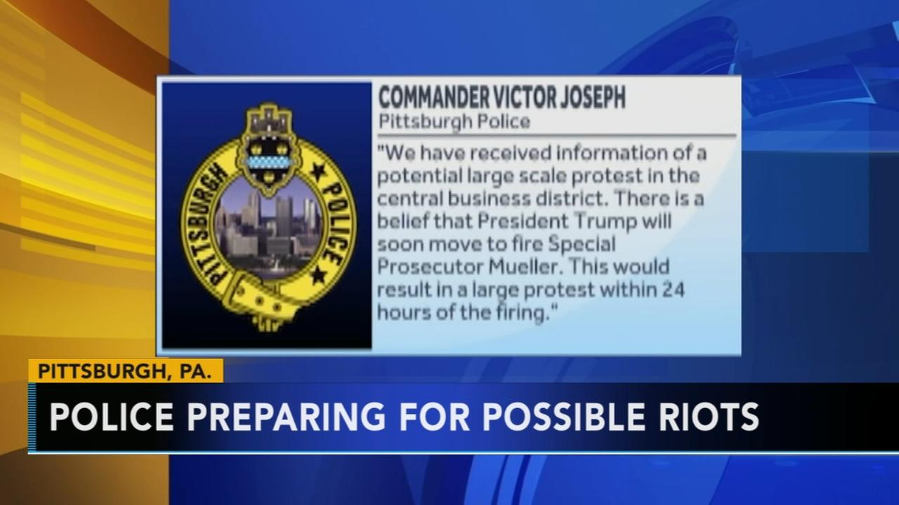 Pittsburgh police told to prepare for Mueller protests