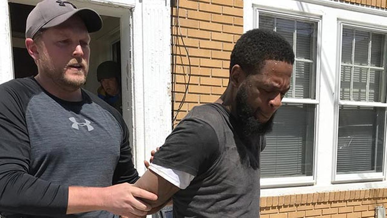 Pictured: Kenyon Gilmore after his arrest on April 20, 2018.