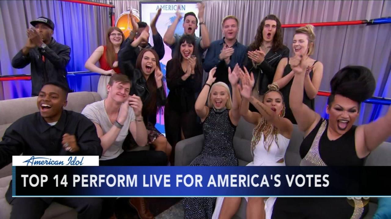 Idol Top 14 perform live for Americas votes
