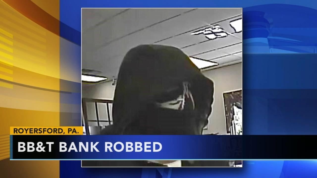 Armed suspect sought for bank robbery in Montco