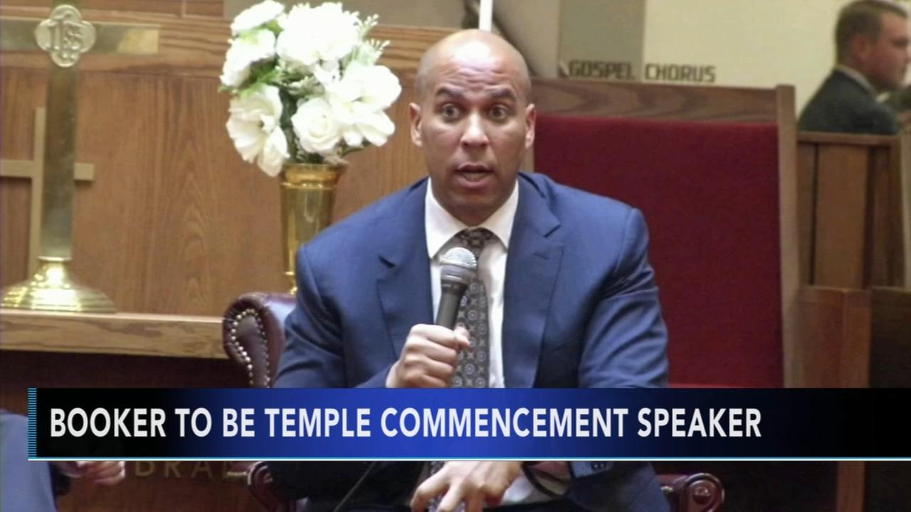 Sen. Cory Booker is Temples commencement speaker