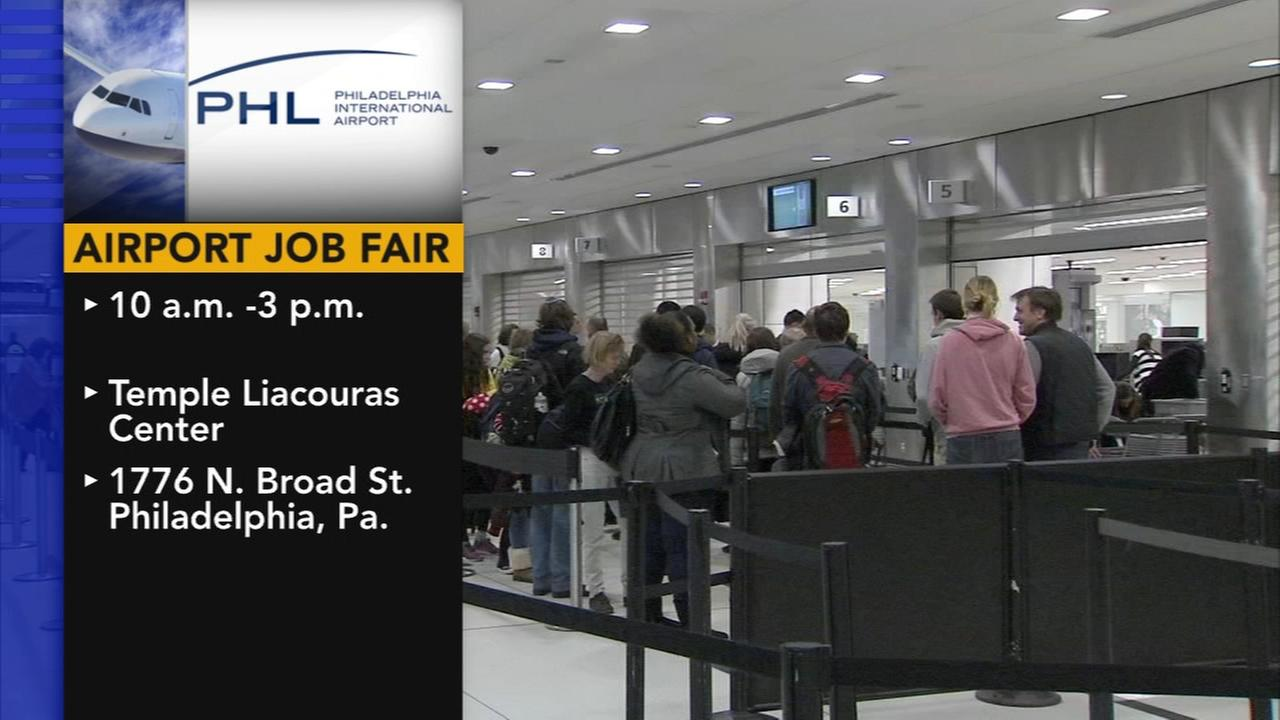Airport job fair at Liacouras Center