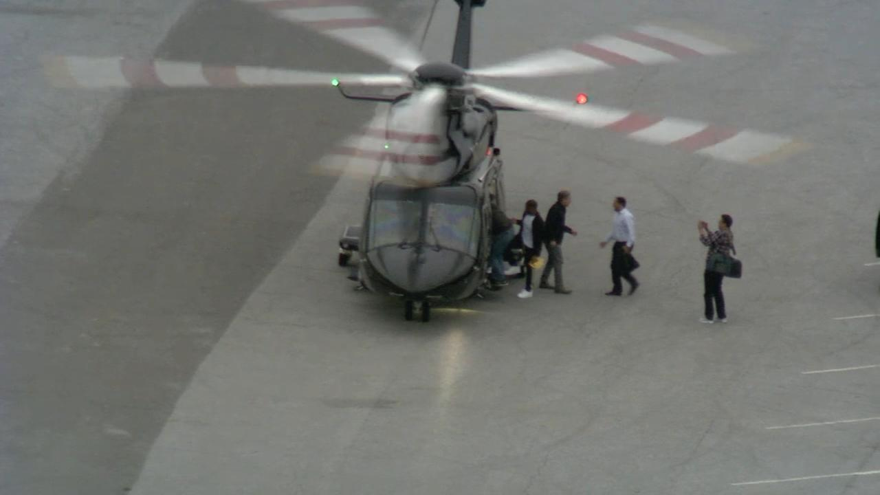 VIDEO: Meek Mill departs prison by helicopter