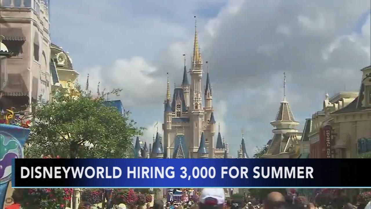 Walt Disney World hiring 3,500 employees for summer