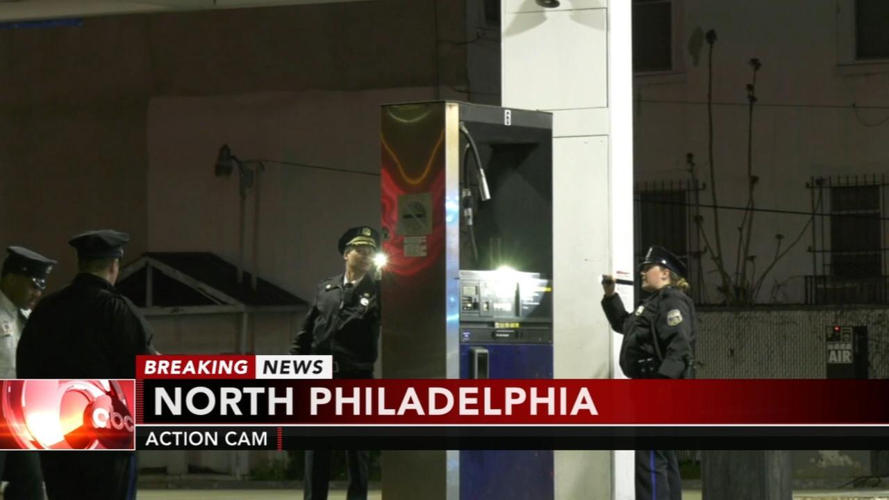 Man shot at North Philadelphia gas station