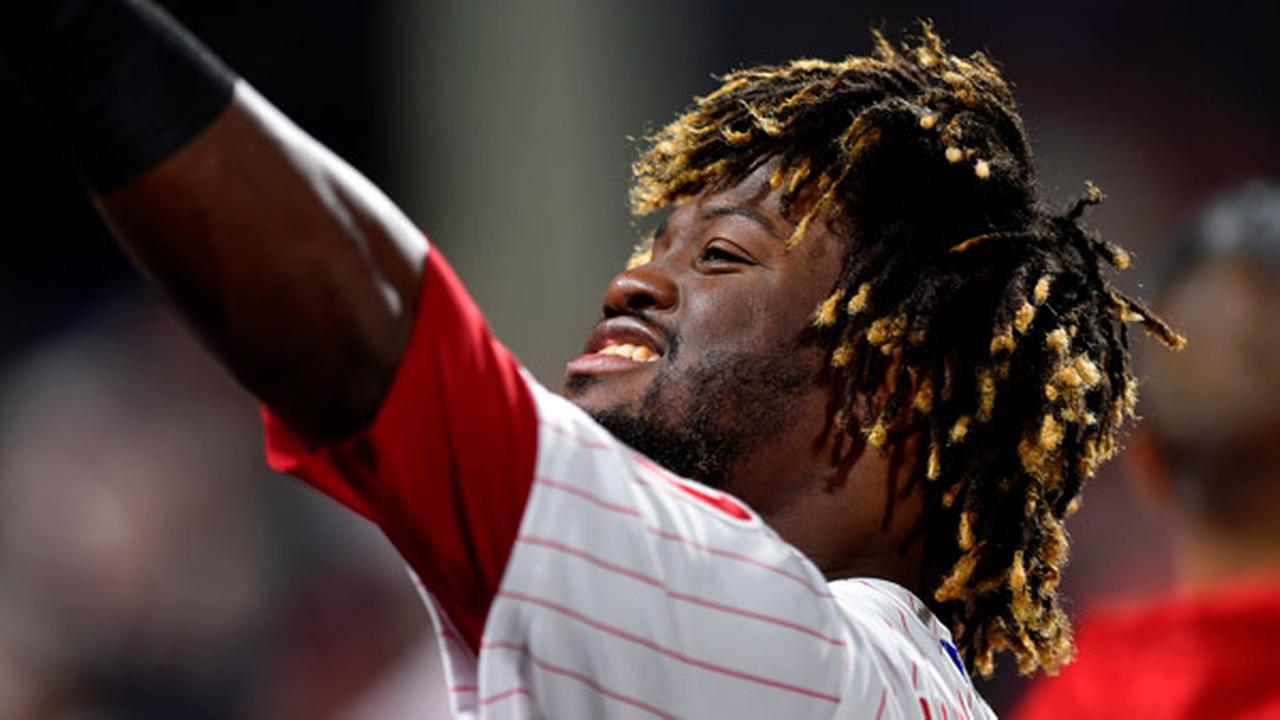 Philadelphia Phillies Odubel Herrera in action during a baseball game against the Arizona Diamondbacks, Wednesday, April 25, 2018, in Philadelphia.