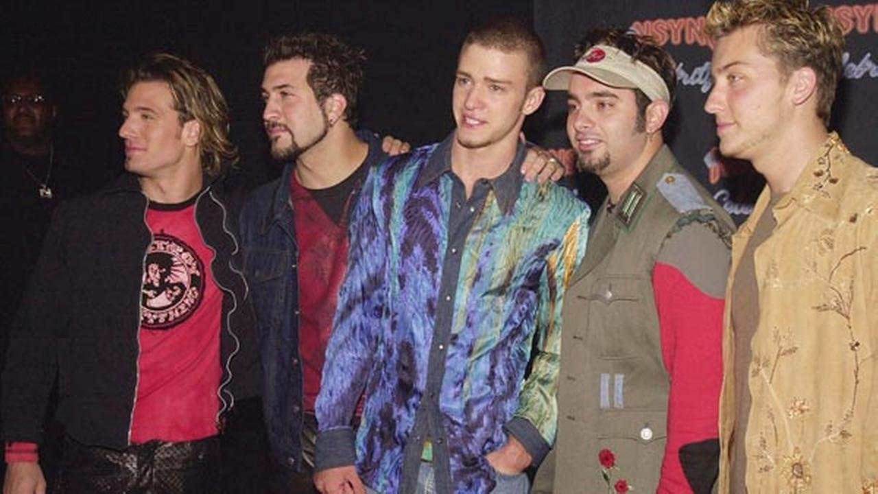FILE: Members of the music recording group NSync arrive at the launch party for the bands new album Celebrity, Monday, July 23, 2001, in Los Angeles.