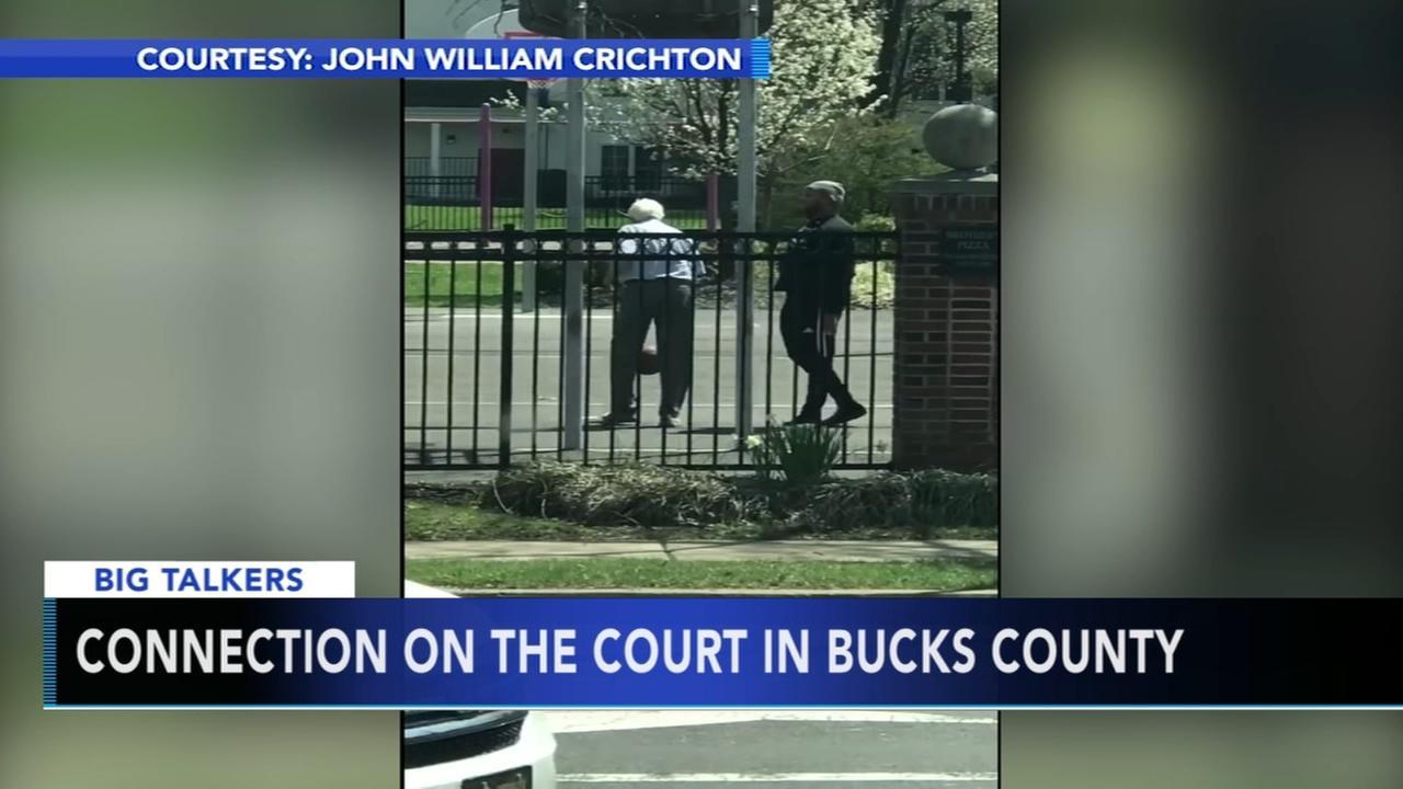 Basketball game on Bucks County court goes viral