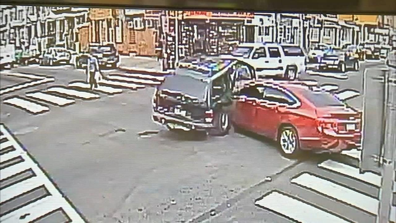 Stolen car causes violent 3-car crash, police say