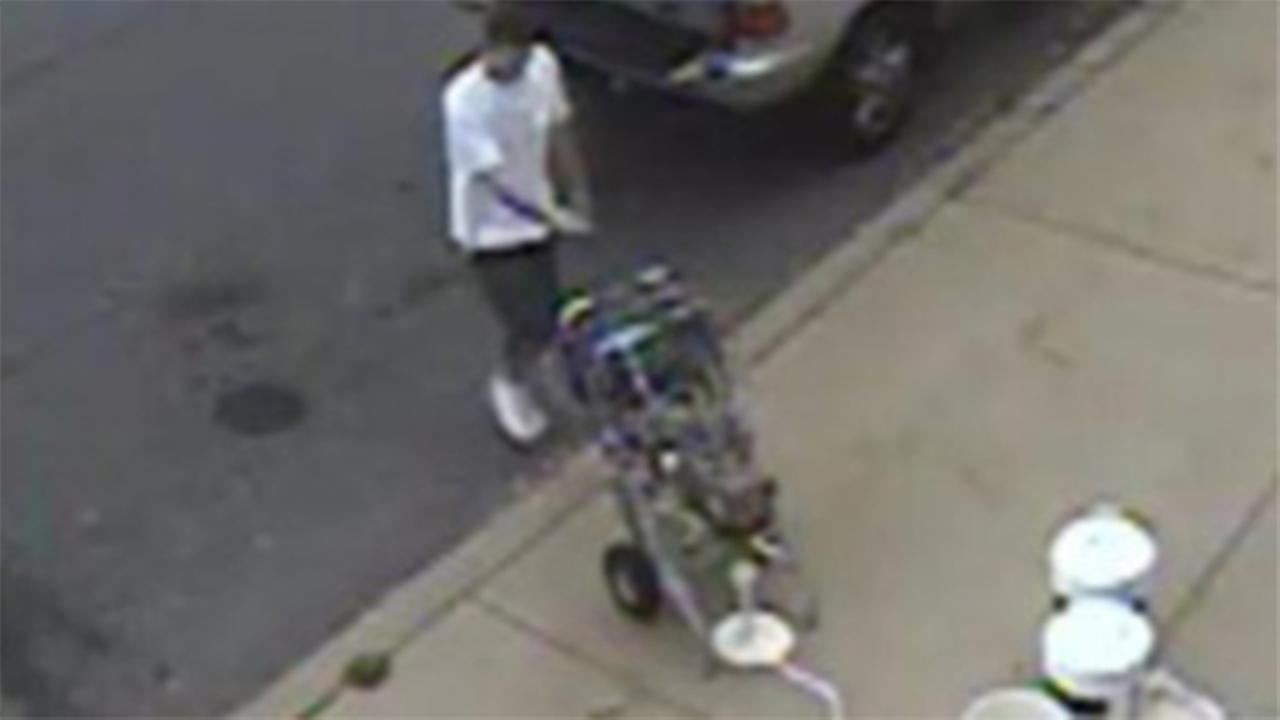 Suspect wanted for theft of paint machine in Bustleton