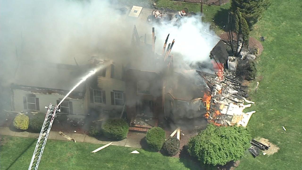 RAW VIDEO: 2-alarm fire in Mansfield, NJ