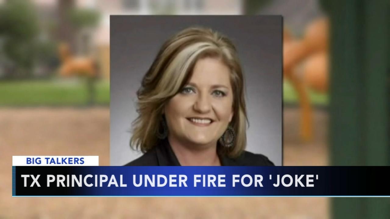 Texas school principal under fire for joke