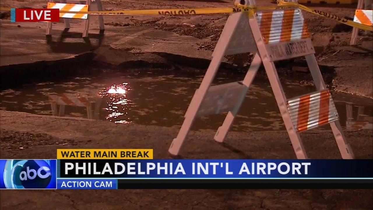 Vehicles towed, parking lot damaged at airport