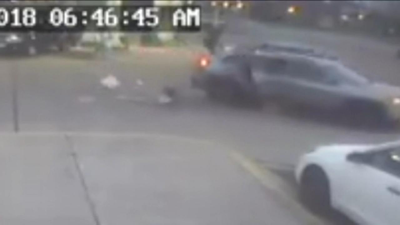 Young girl jumps out of car to escape carjacker