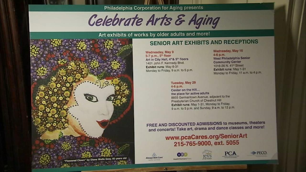 Philadelphia Corporation for Aging showcases 85-year-old artists paintings
