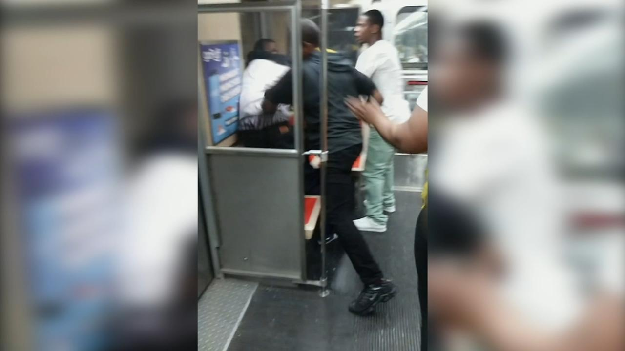 Police investigate video of brawl on SEPTA train