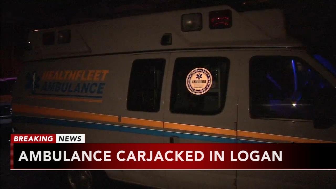 Ambulance carjacked in Logan