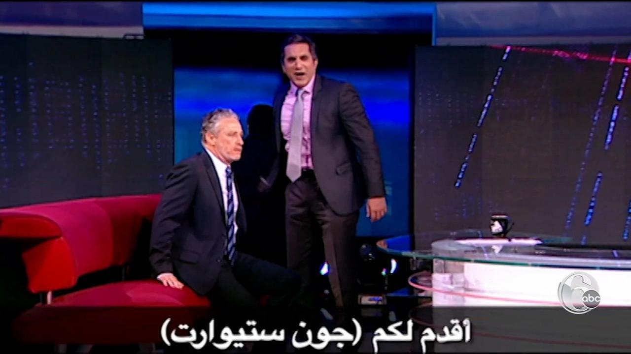 We meet a satirical superhero, dubbed the Jon Stewart of the Arab world.