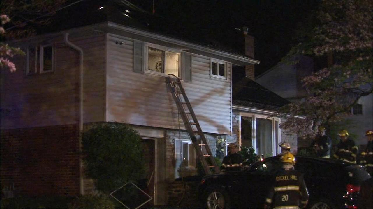 Upper Darby police officers rescue 2 in fire