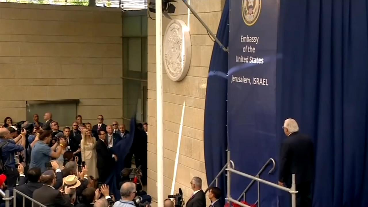 Opening day at the US Embassy in Jerusalem