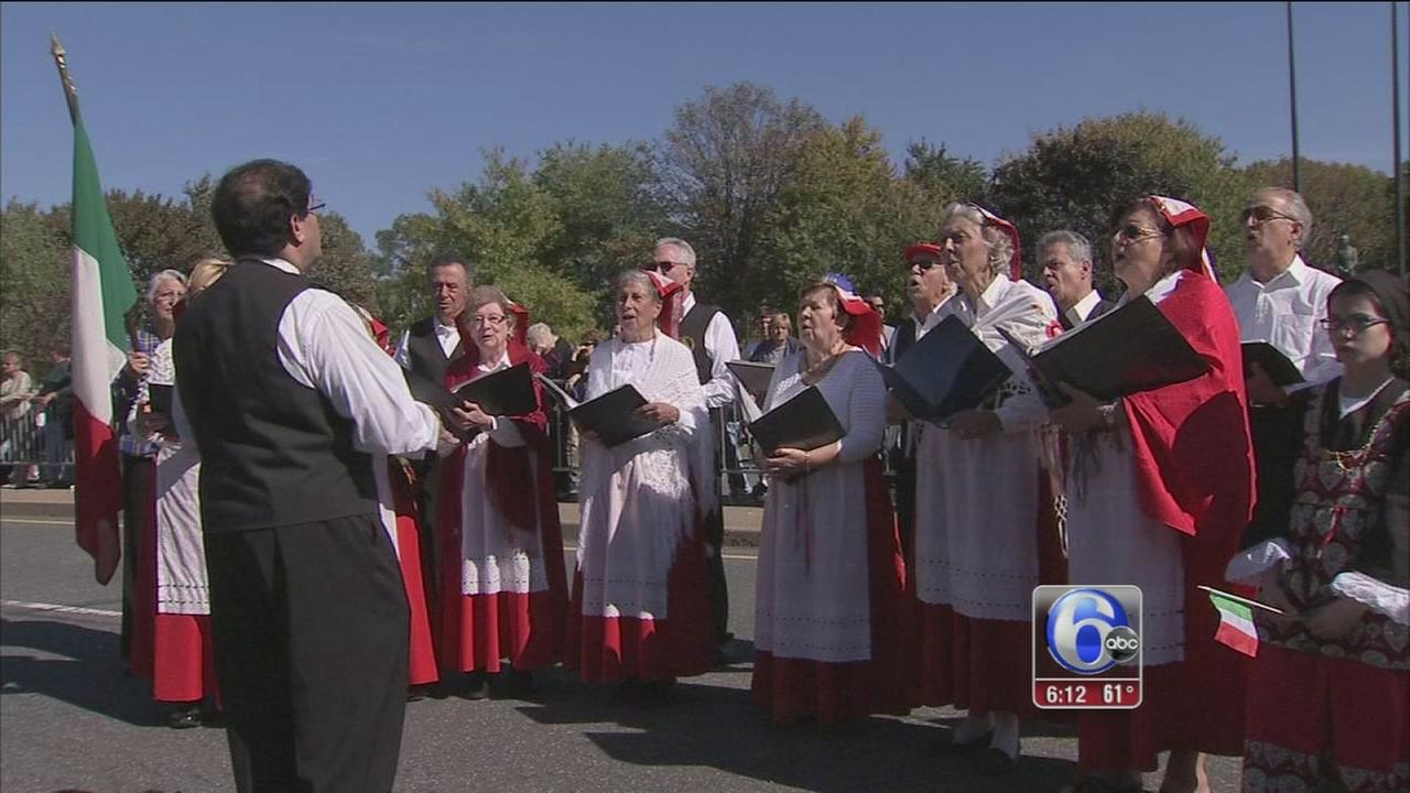 VIDEO: Columbus Day Parade marches through South Philly