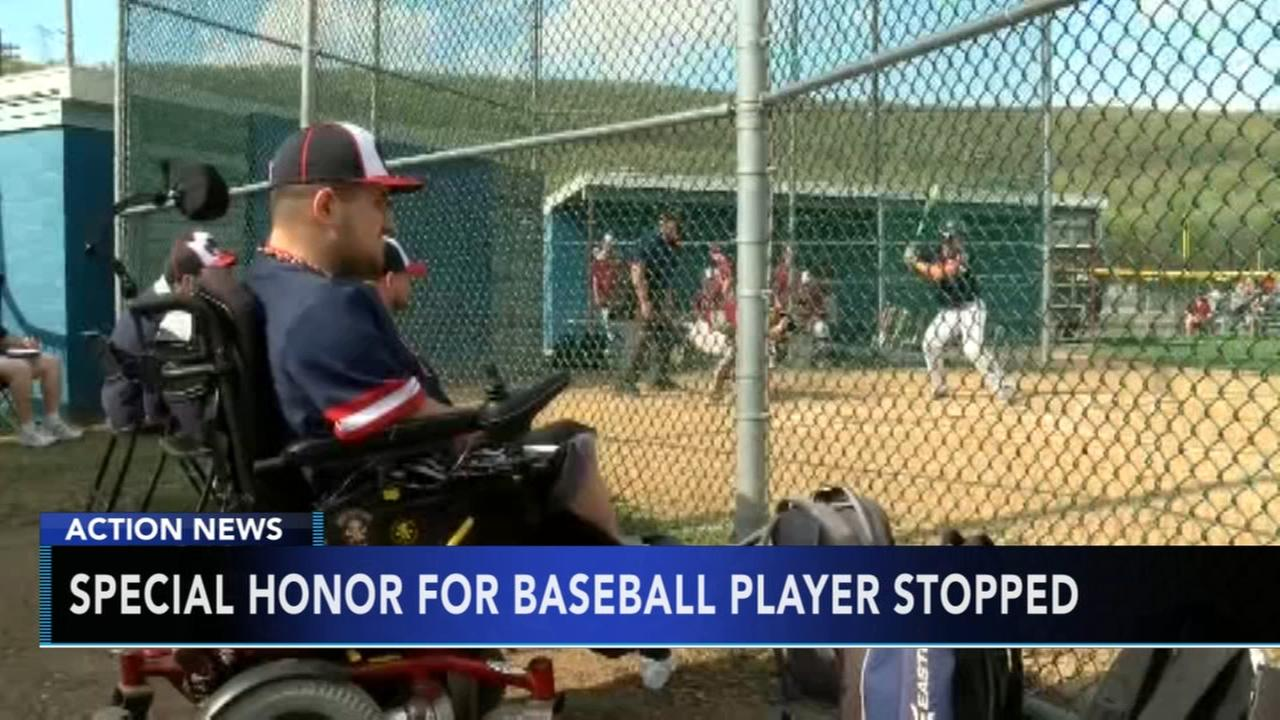 Special honor for basbeball player stopped
