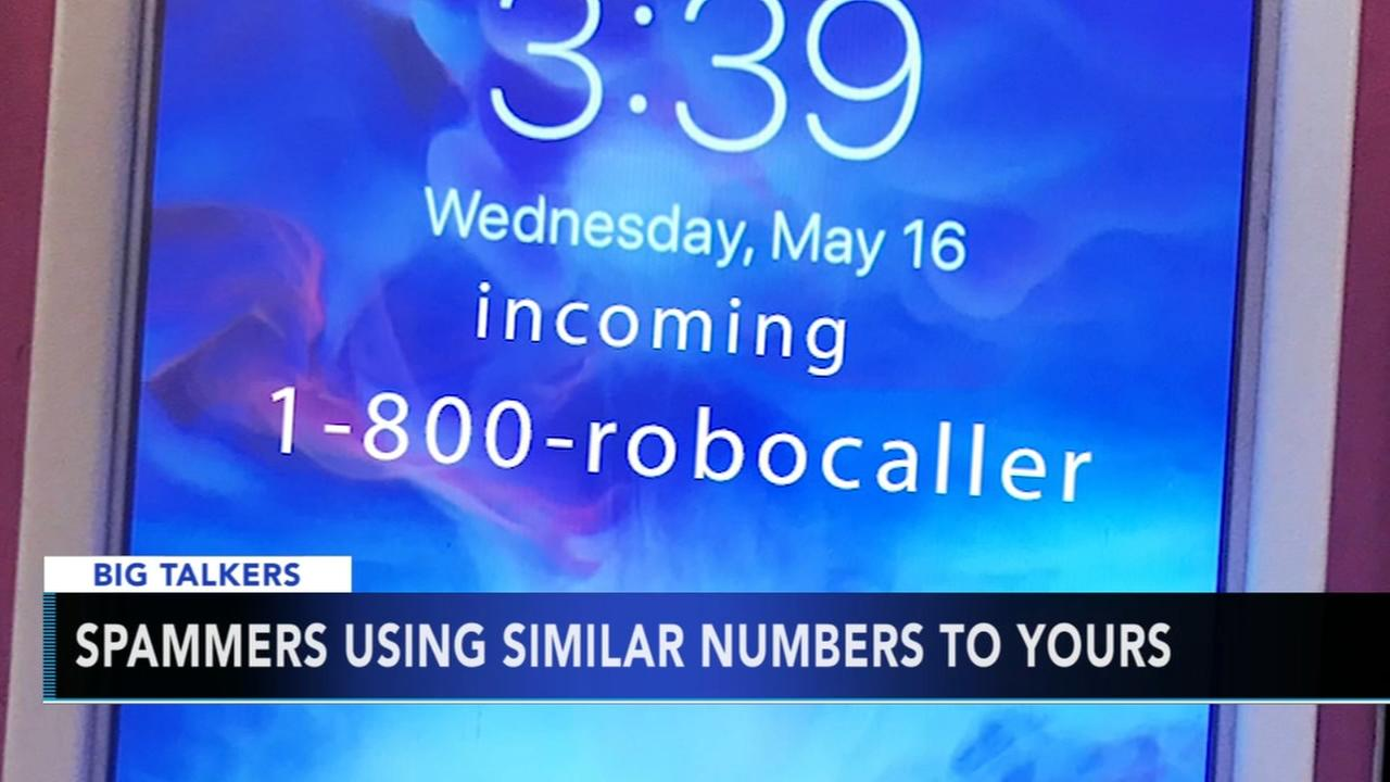 Spammers using similar phone numbers to callers