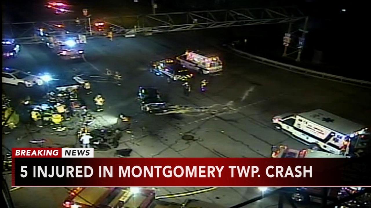 5 injured in Montgomery Twp crash