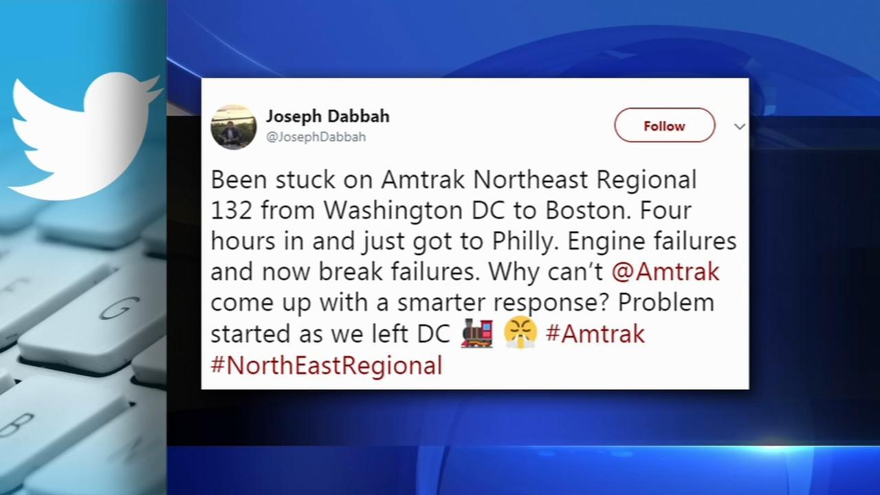 Passengers stuck on Amtrak train for hours