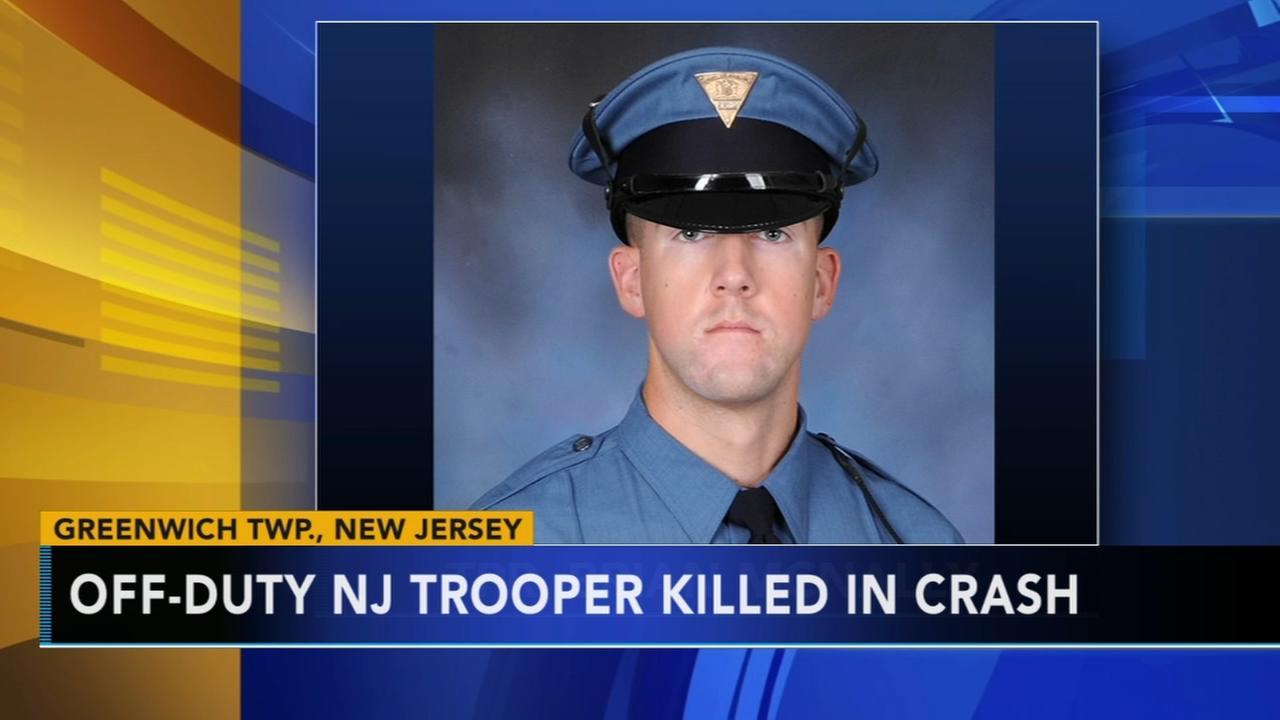 Off-duty NJ trooper killed in crash