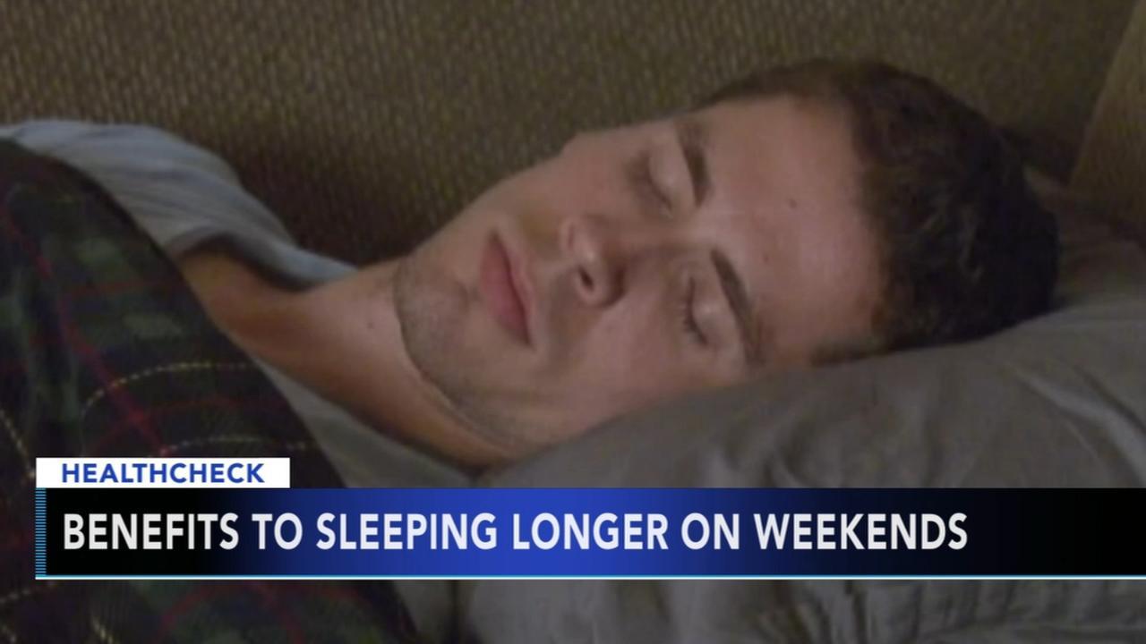Benefits of sleeping longer on weekends