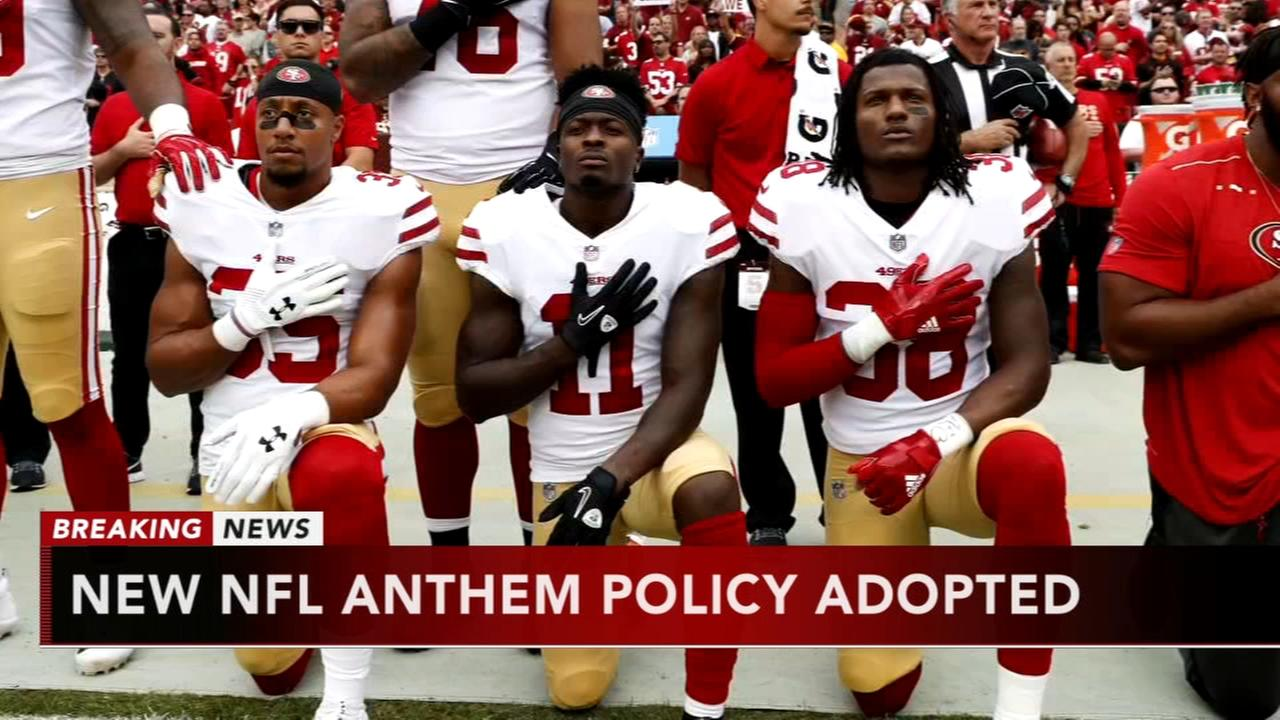 NFL adopts new anthem policy