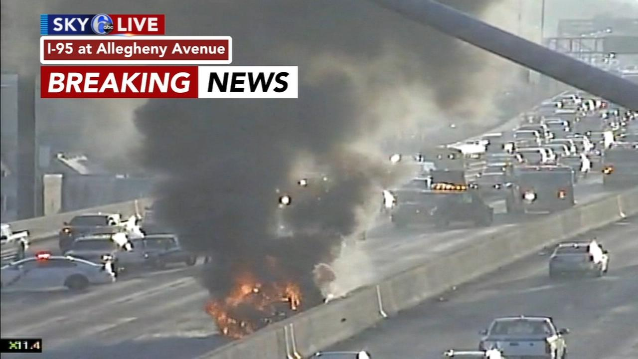 Car fire on I-95