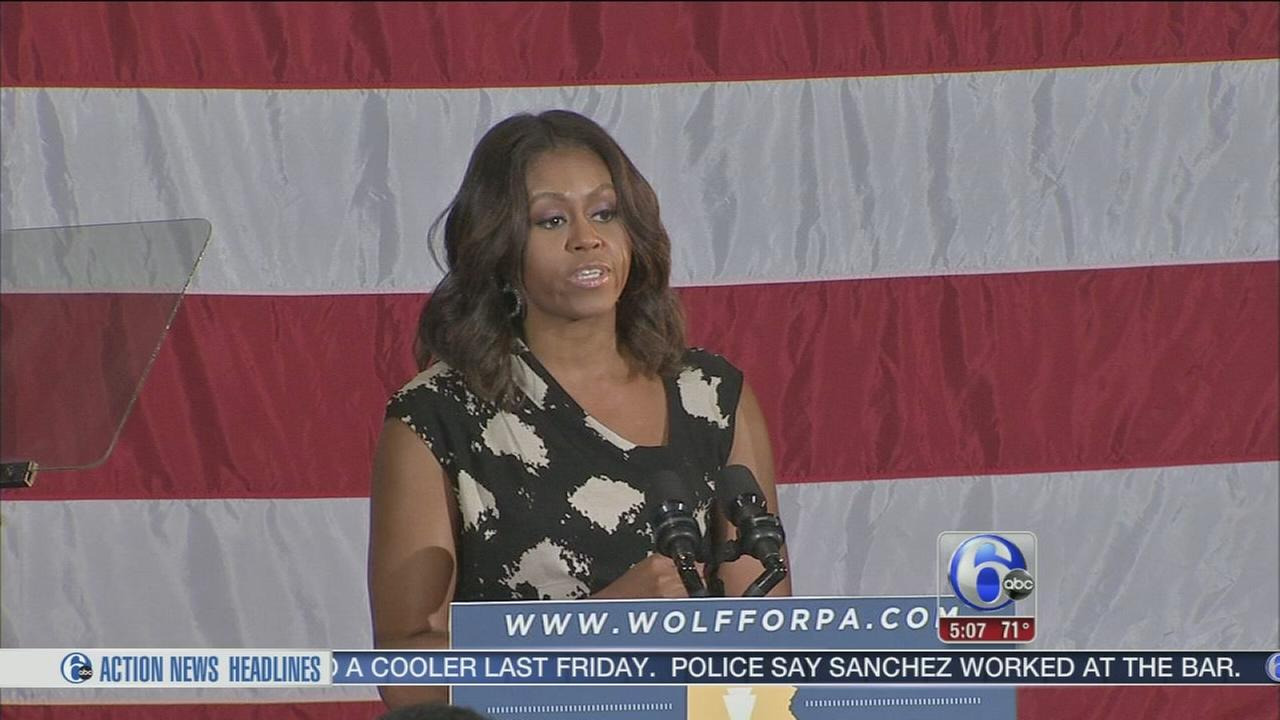 VIDEO: First Lady visits Philly
