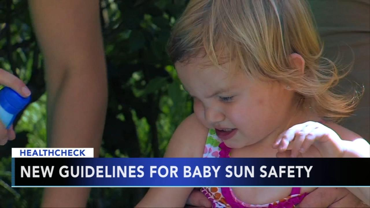 New guidelines for baby sun safety