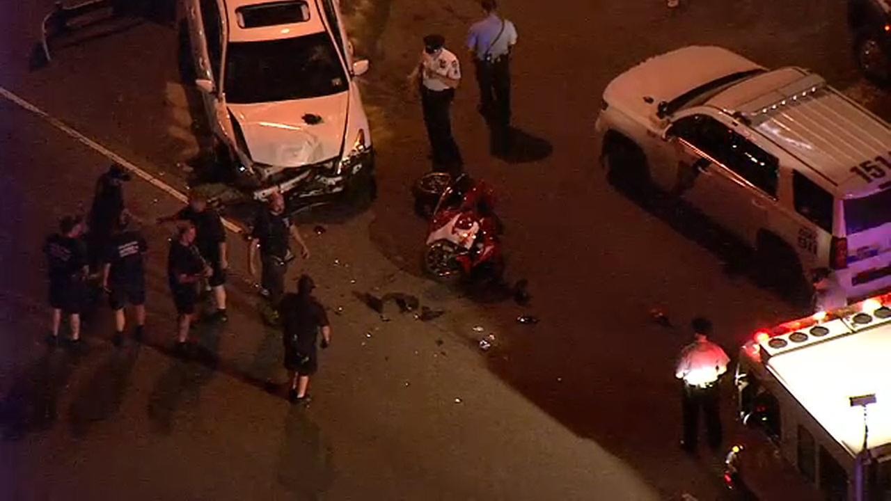 2 hurt after vehicle and motorcycle collide in Bridesburg