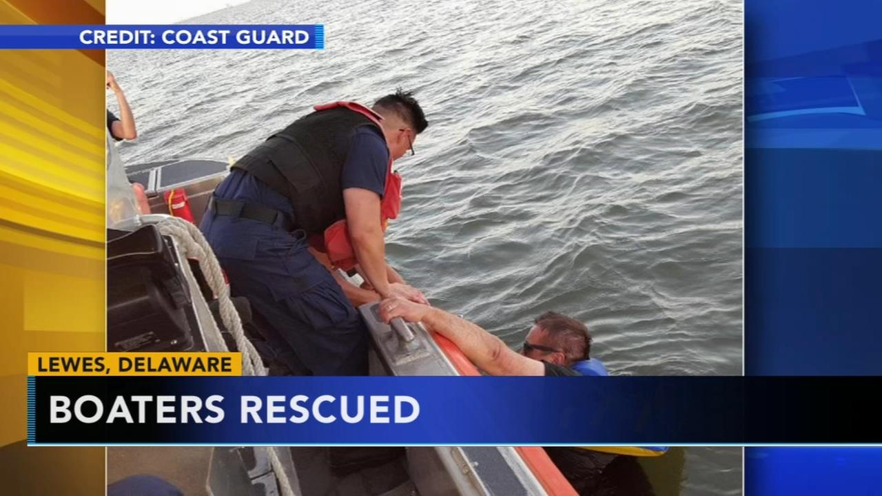 Coast Guard rescues 3 boaters in Delaware