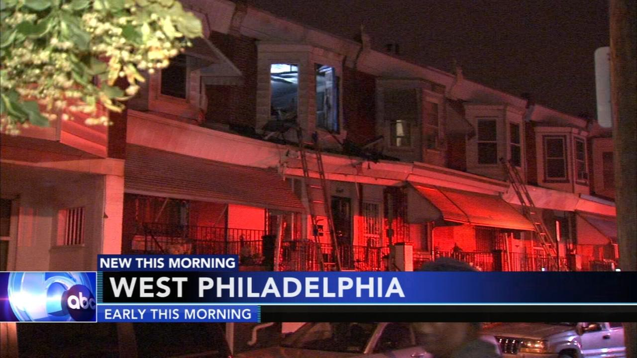 Fire damages row house