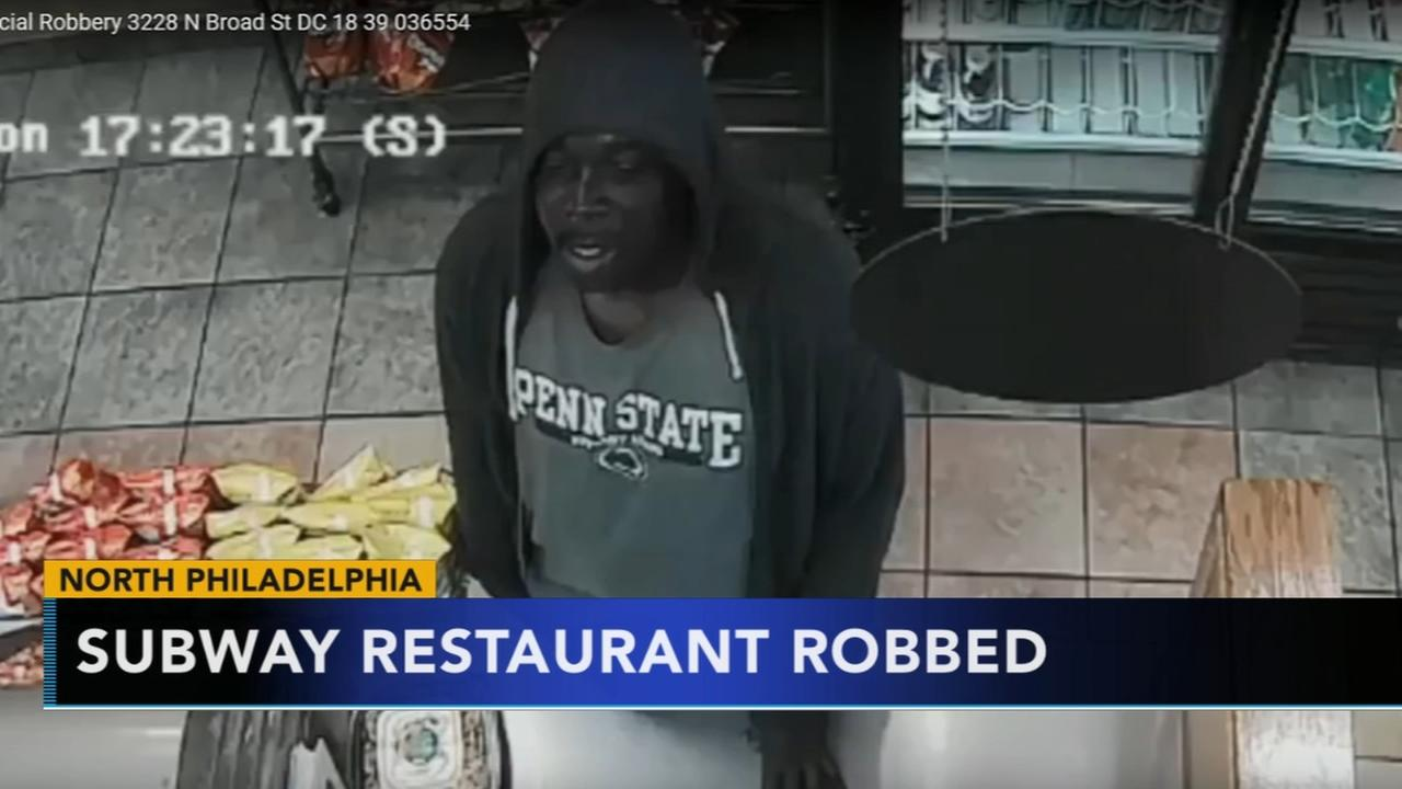 Armed suspect sought after Subway restaurant robbery